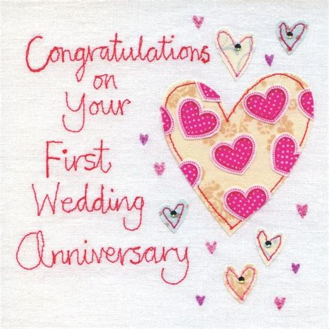 1st Wedding Anniversary by Finished Wedding Anniversary Card Karenza Paperie