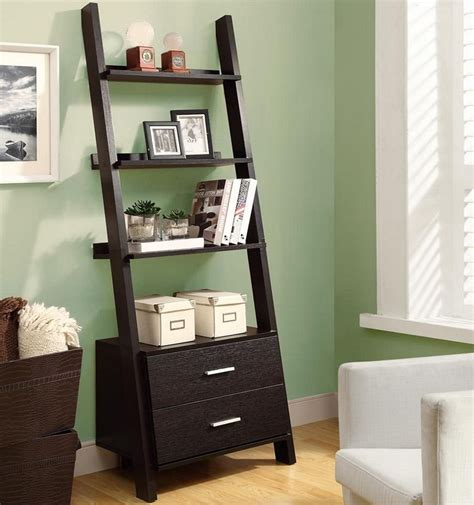 white ladder bookcase with drawers white ladder bookcase ladder shelf bookcase with drawers