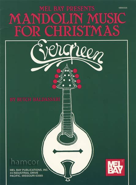 mandolin music for christmas evergreen tab sheet music