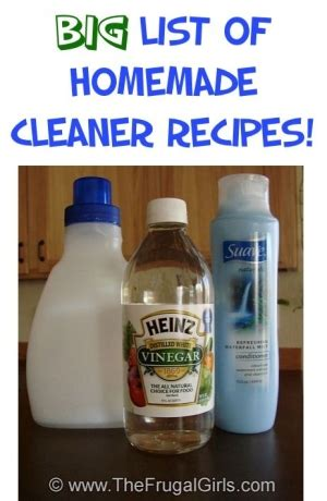homemade bathroom cleaner recipes list of several homemade diy cleaner recipes including