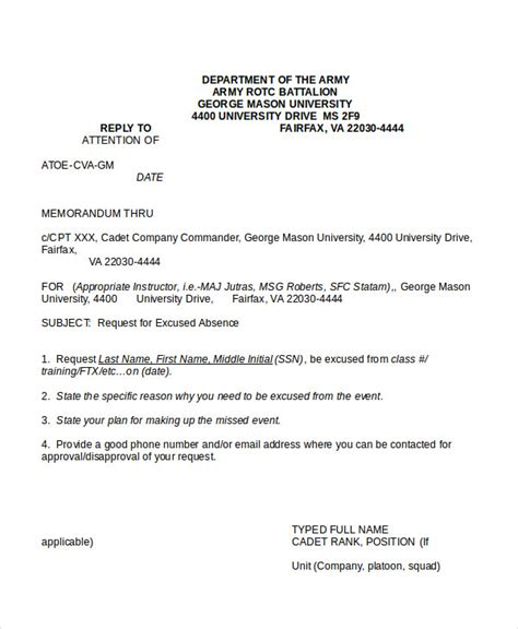 army memo template word army memo army memorandum for record template army memo