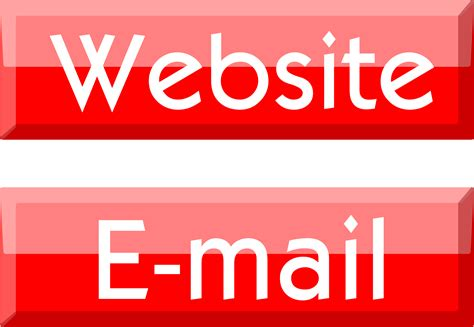 website clipart clipart website e mail buttons