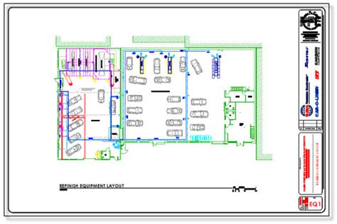 auto floor plan rates facility design permits precision for collision