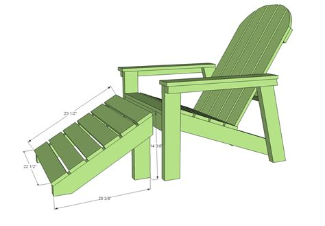 Adirondack Chair Ottoman Plans White Home Depot Adirondack Footstool Diy Projects