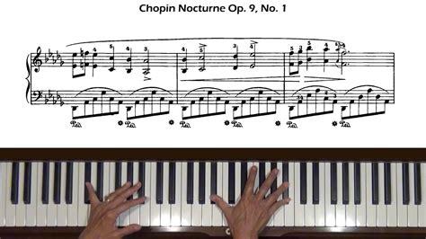 chopin nocturne op 62 no 1 piano tutorial youtube chopin nocturne op 9 no 1 in b flat minor piano