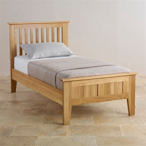 Bevel Single Bed In Natural Solid Oak Oak Furniture Land Bed Single Bed