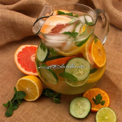 Lemon Lime And Grapefruit Detox Water by Citrus Detox Spa Water Recipe Beverages With Water