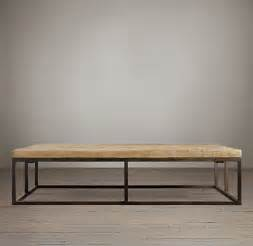 Restoration Hardware Reclaimed Wood Coffee Table How To Build A Diy Industrial Coffee Table For Only 75 24