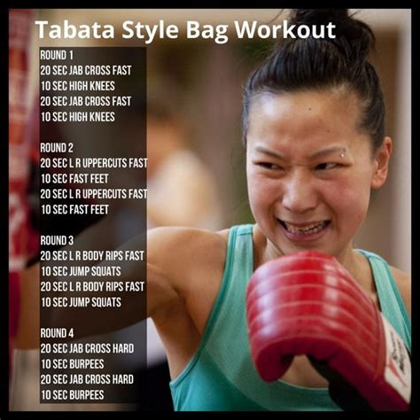 tabata style bag workout if you don t a bag at home