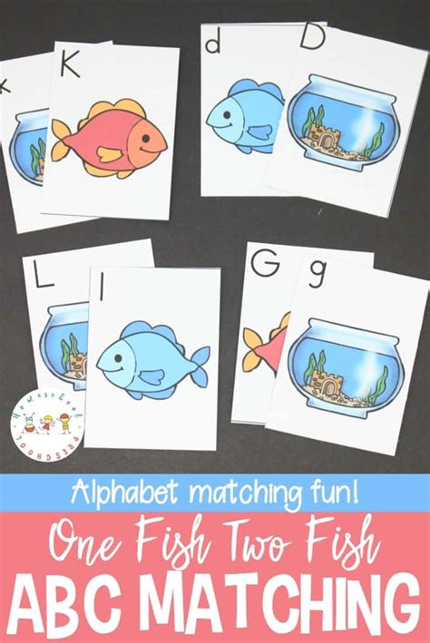 printable alphabet matching cards one fish two fish printable alphabet matching cards