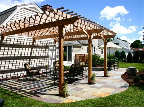 How To Free Attached Pergola Plans Pergola Attached To Attaching Pergola To House