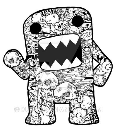 how to draw doodle domo domo doodle by kuro0 on deviantart