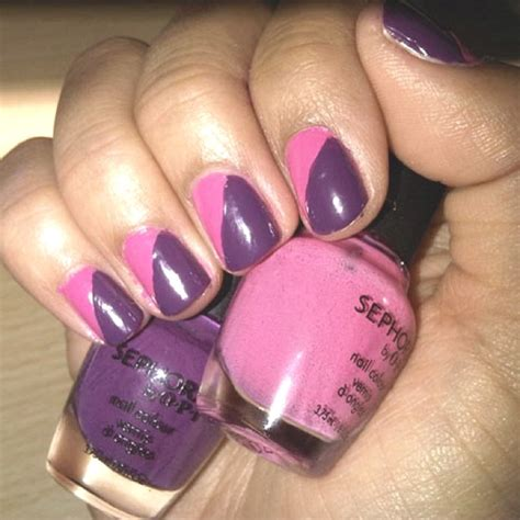 two color nails best 20 two color nails ideas on matt nails