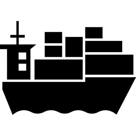 ship icon cargo ship with containers free transport icons