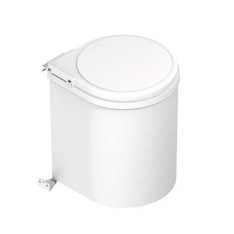 cubo basura cocina cubo de basura de 13 l redondo de polipropileno para cocina