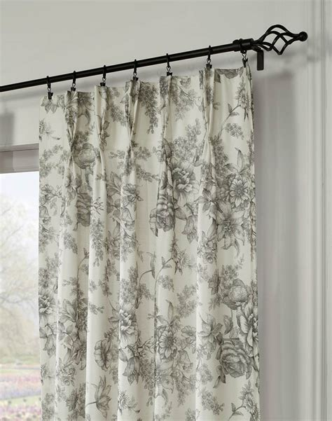 hton toile pinch pleat window curtain panel curtainworks com