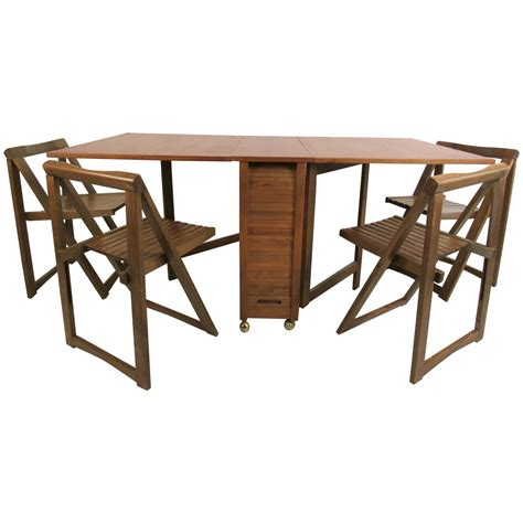 Modern Drop Leaf Table Mid Century Modern Drop Leaf Table With Chairs At 1stdibs