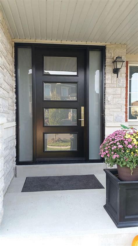 modern exterior door  multi point locks  door lites