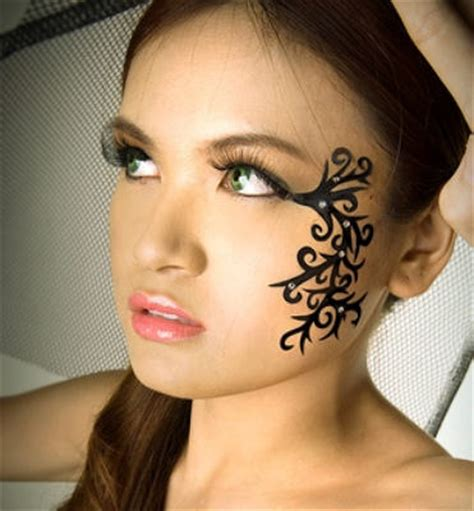 pretty face tattoo designs tattoos
