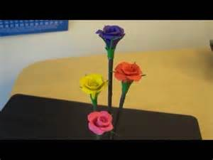Paper Flower Making Rose - diy modeling clay rose bunches youtube
