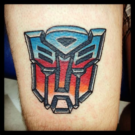 autobot tattoo autobots emblem colour tatts color