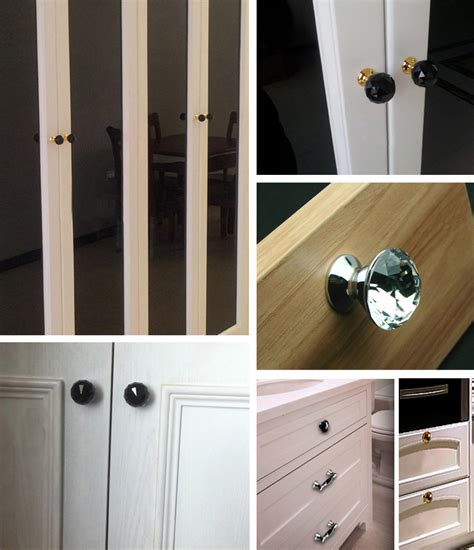 Kitchen Unit Knobs And Handles 40mm K9 Clear Knob Kitchen Cabinet Knobs Handles