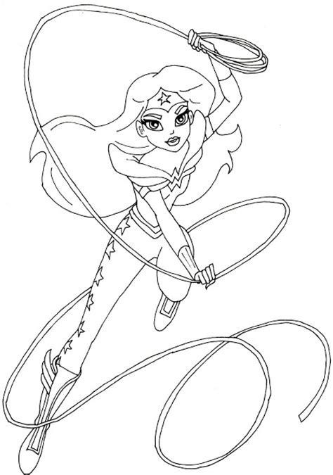free printable super hero high coloring pages wonder
