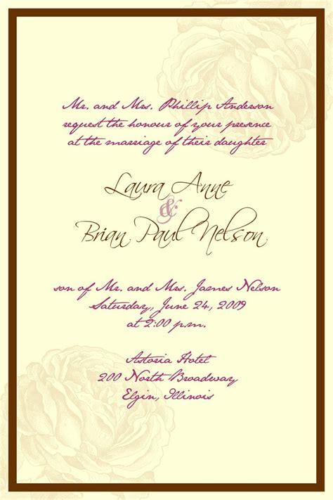 wedding invitations wording in wedding invitation wording sles 28 wedding
