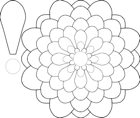 flower drawing templates large flower template az coloring pages
