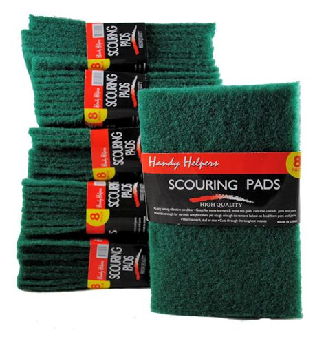 Kitchen Scouring Pads by 48 Large Green Kitchen Scour Scouring Scrub Pads