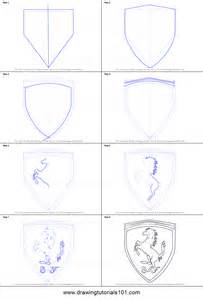 How To Draw how to draw ferrari logo printable step by step drawing sheet