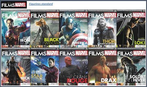 film marvel prevision films marvel eaglemoss figurines para bd