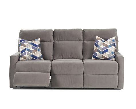 reclining pillow reclining sofa with soft track arms and pillows by