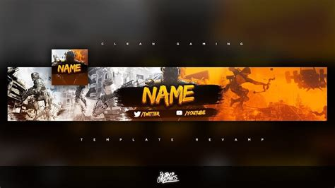 Top 5 Free Gaming Banner Logo Templates 2018 Youtube Banner Template 2018