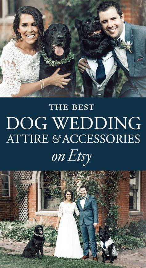 The Best Dog Wedding Attire and Accessories on Etsy