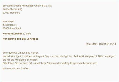 Vorlage Abo Vertrag Sky K 252 Ndigen Kostenloser Musterbrief Tipps Freeware De