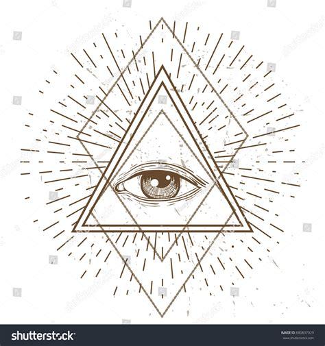 sacred geometry symbol all seeing eye stock vector all seeing eye symbol sacred geometry stock vector 680837029