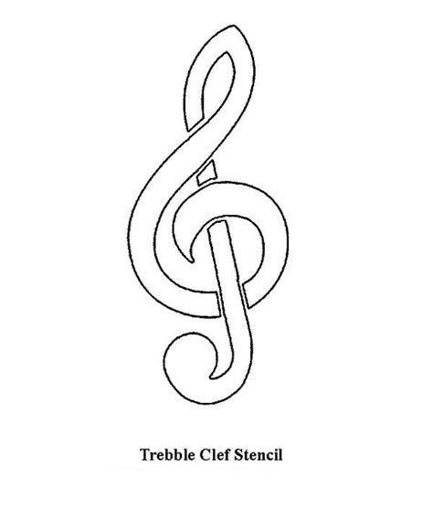 treble clef stencil coloring page netart