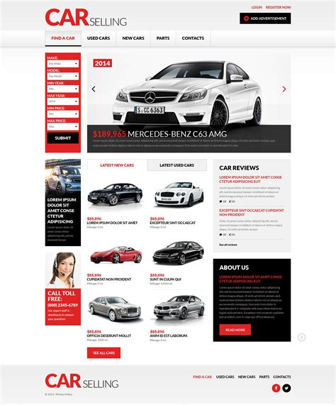 car dealer responsive website template 51380