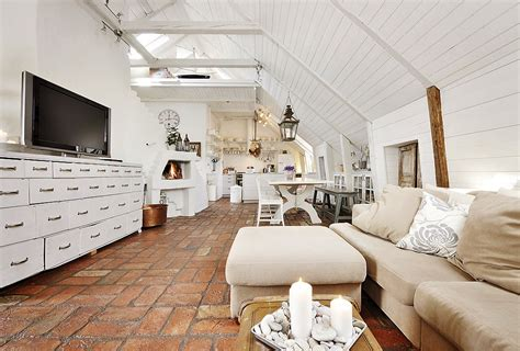 stunning attic apartment in modern and shabby chic styles