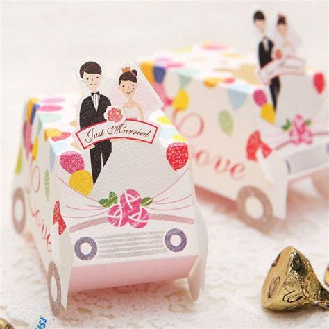Gift Card Boxes For Parties - 25 wedding gift card boxes sweet candy party favor box just married love 2161062