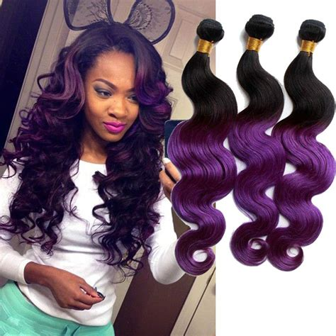 purple remy hair extensions purple ombre malaysian hair extension cheap 3 bundles hu