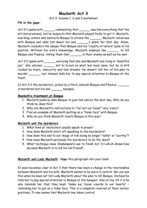 macbeth themes worksheet key stage 3 drama macbeth by shakespeare