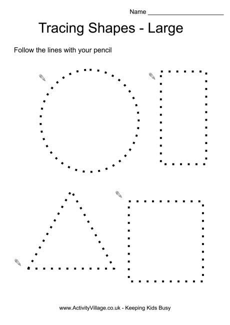 shape tracing templates 10 best images of printable worksheet of squares