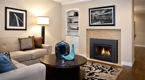Living Room With Gas Fireplace Gas Fireplace Inserts Contemporary Living Room