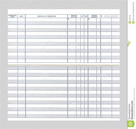 free checkbook register free checkbook register template business