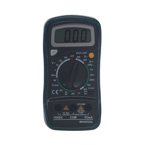 Multimeter Pocket 1999 counts mas830l pocket portable digital multimeter