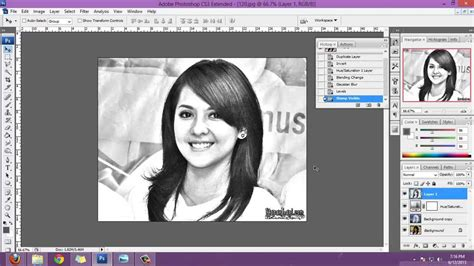 cara edit foto photoshop lukisan cara gang membuat sketsa pensil dari photoshop youtube