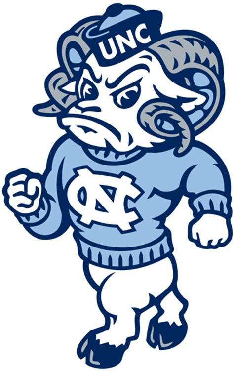 unc university of north carolina large ram logo north carolina tar heels secondary logo ncaa division i n r ncaa n r creamer s