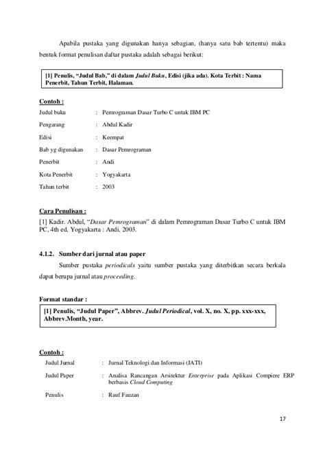 format revisi skripsi panduan skripsi ta word revisi